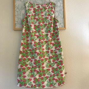 Lilly pulitzer strawberry creme fraiche dress 14
